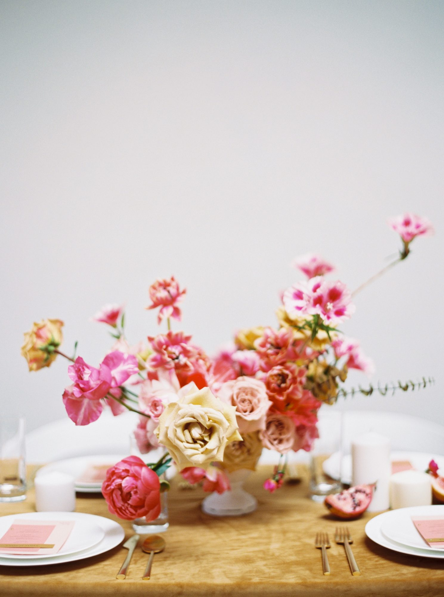 summer wedding centerpieces flora Fuchsia Explosion