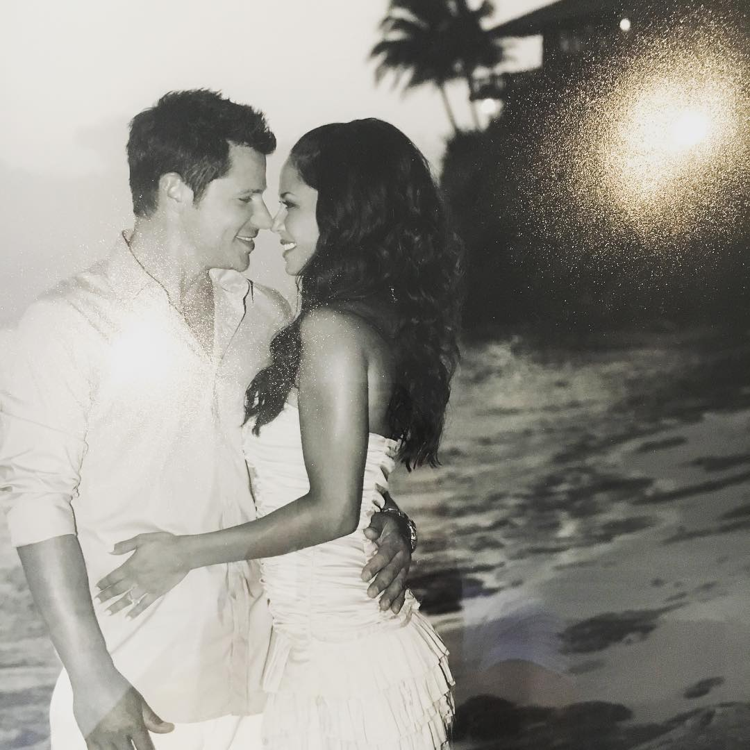 Nick Lachey and Vanessa Lachey on their wedding day