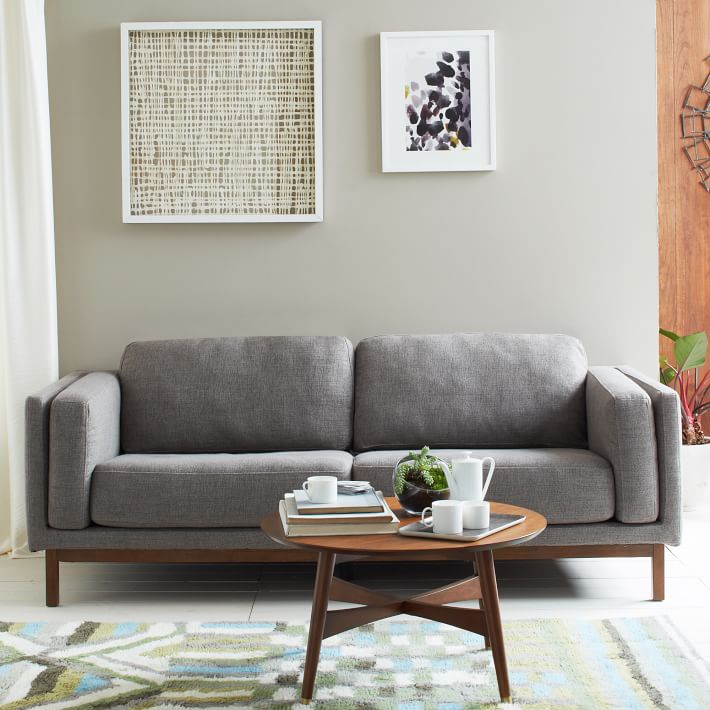 west elm sofa and coffee table american made