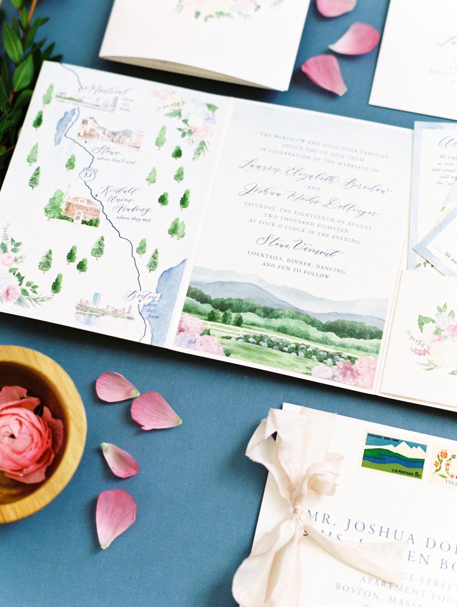 lauren josh wedding invitations