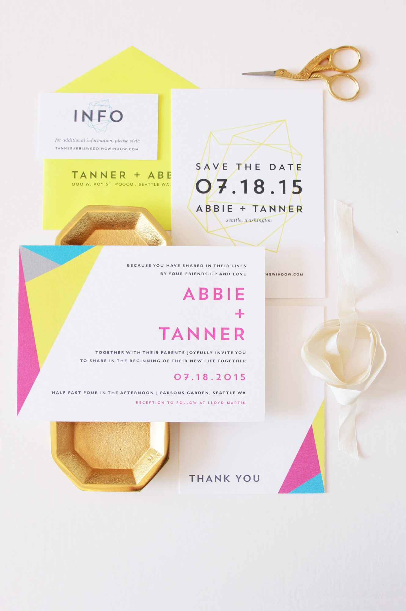 bright stationery suite
