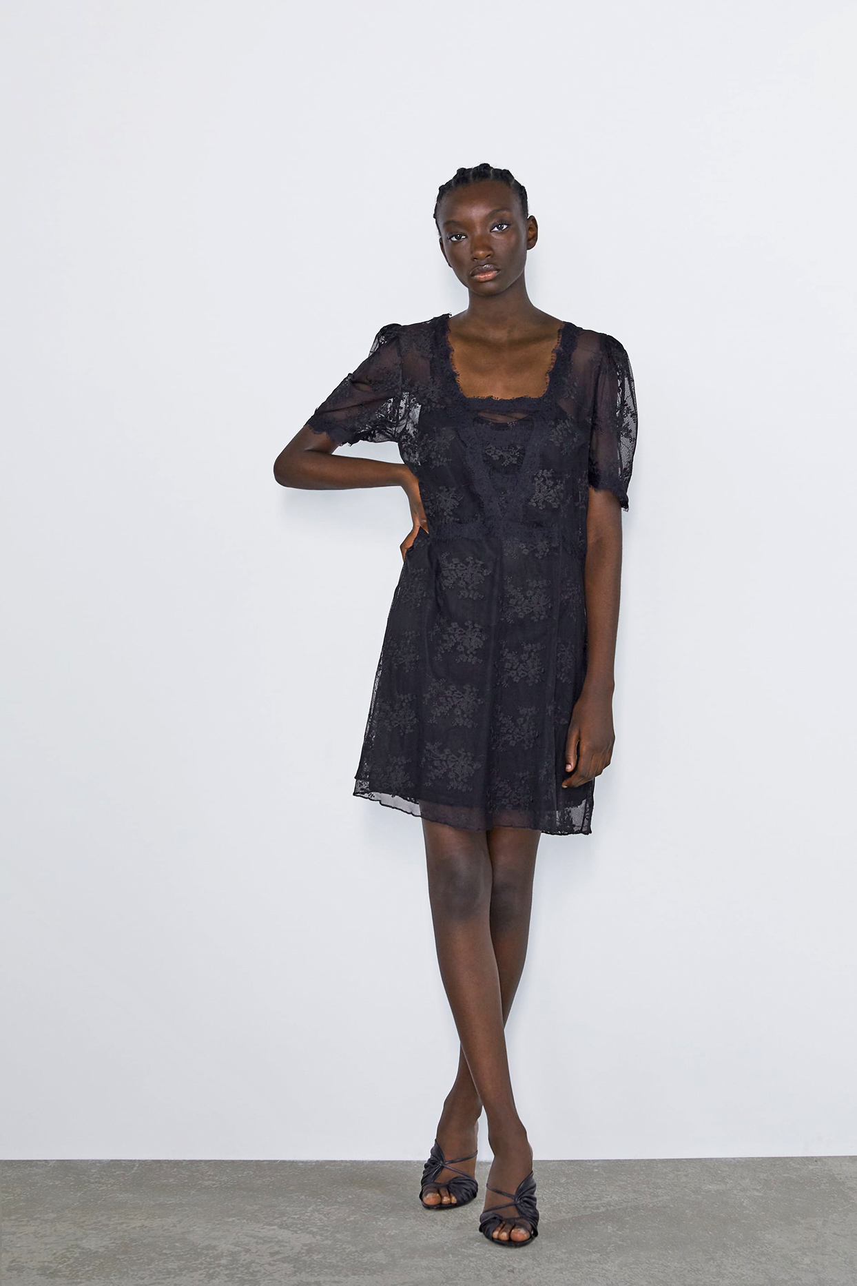 Zara Tulle Dress with Lace