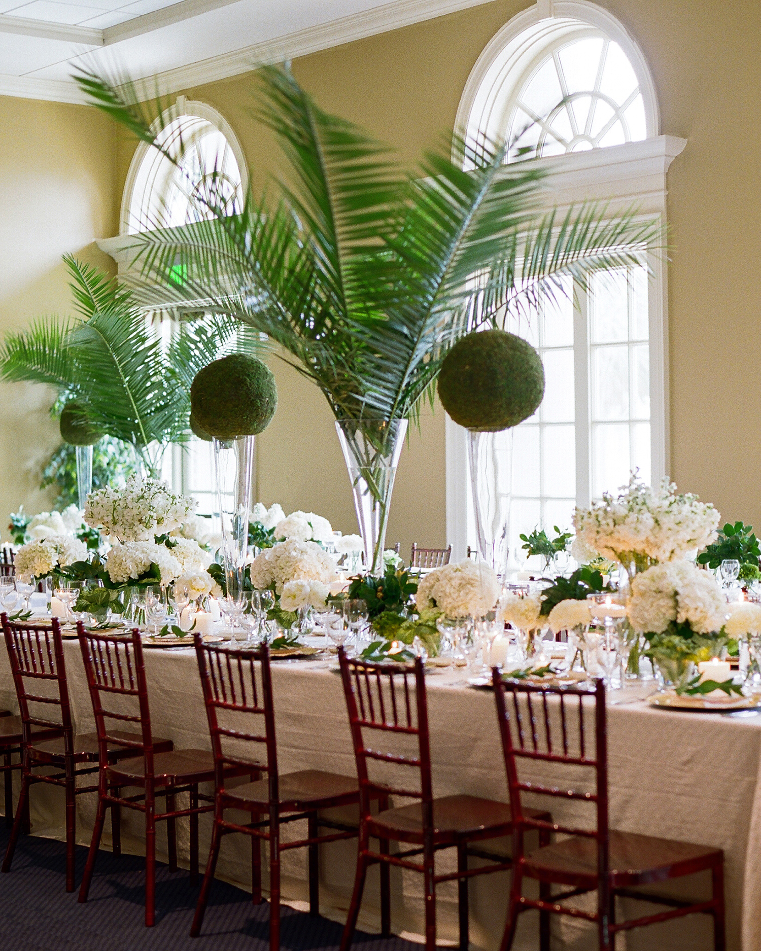 lindsay evan wedding banquet table and chairs