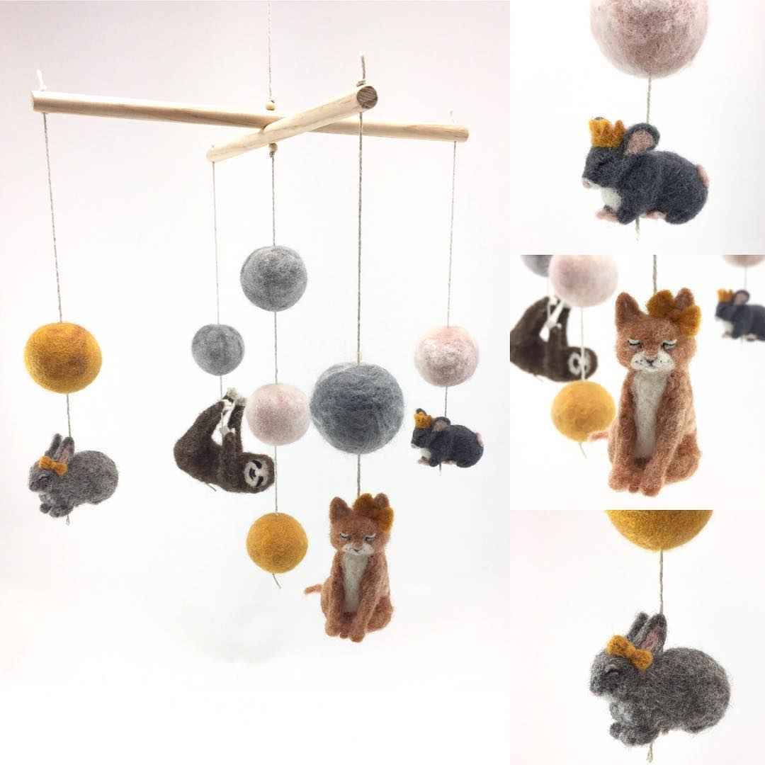felted-mobiles-animals
