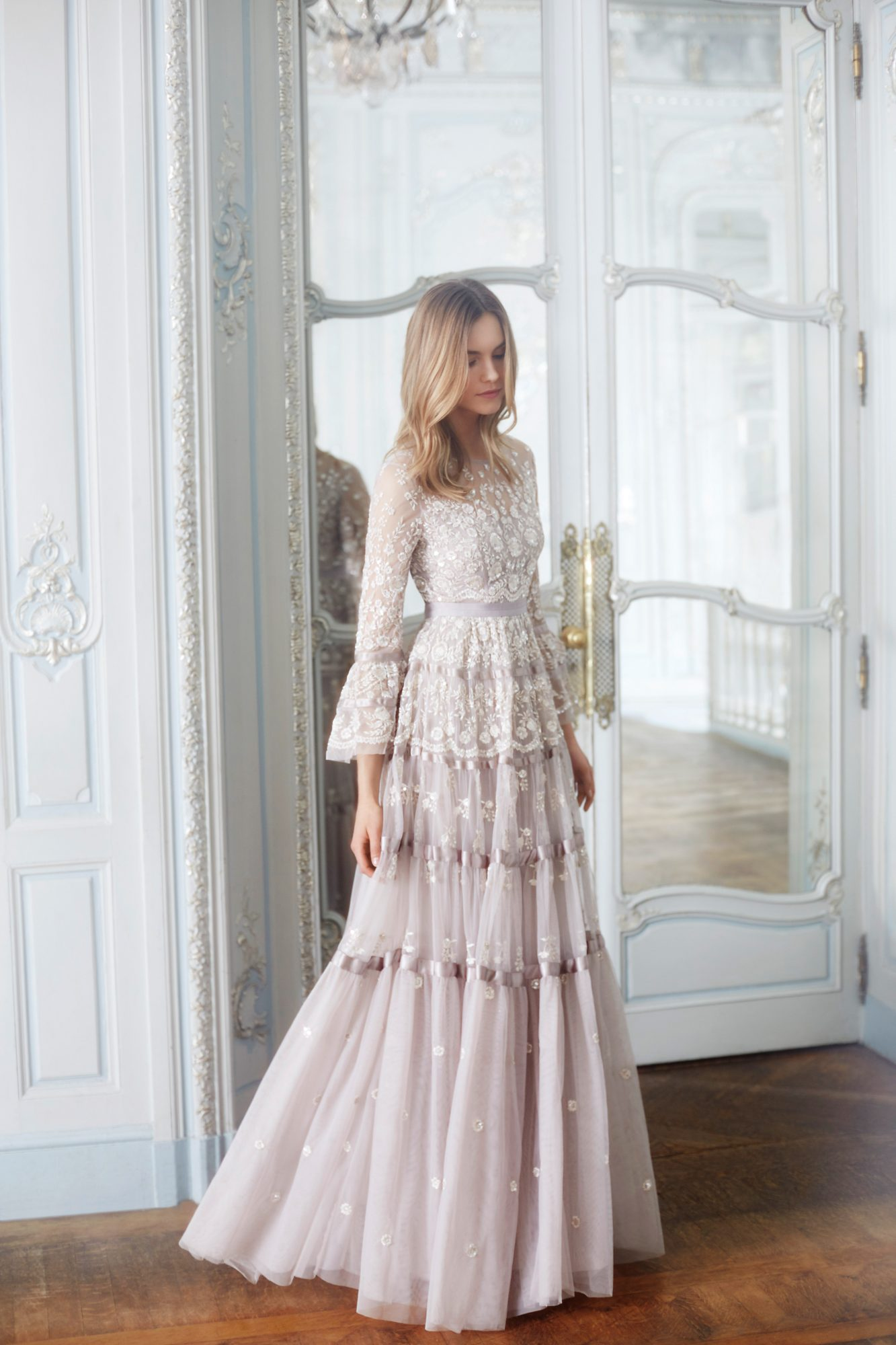 needle and thread wedding dresses fall 2017 long sleeves colored