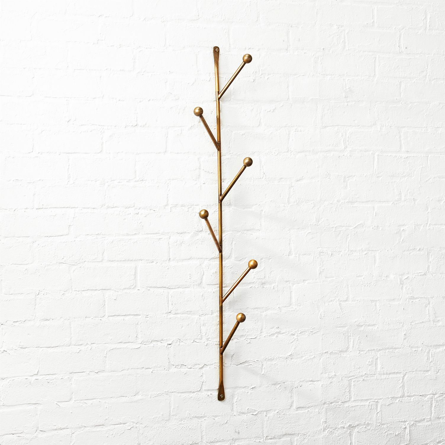 "CB2 ""Barker"" Vertical Wall Mounted Coat Rack"