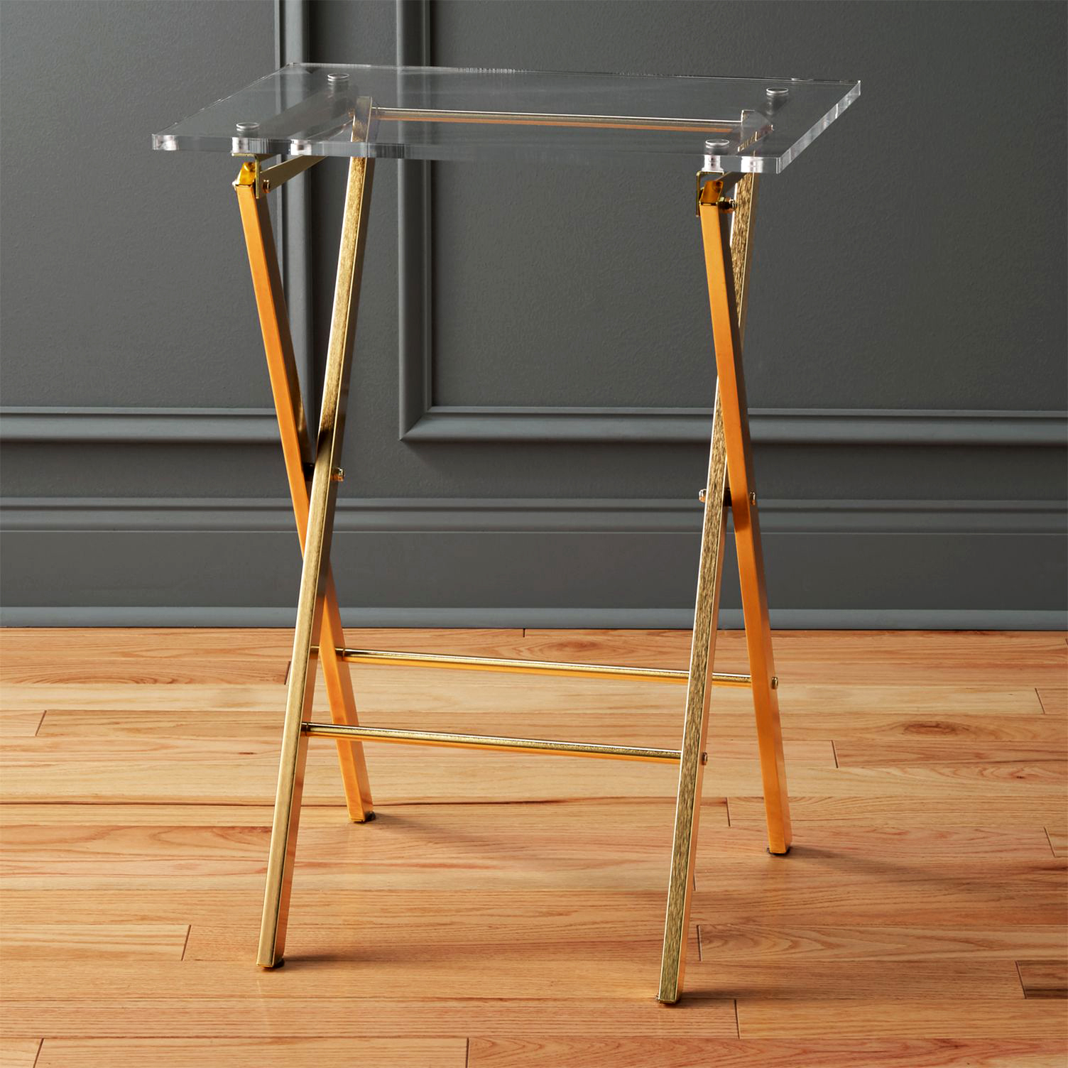 "CB2 ""Novo"" Acrylic Folding Table"