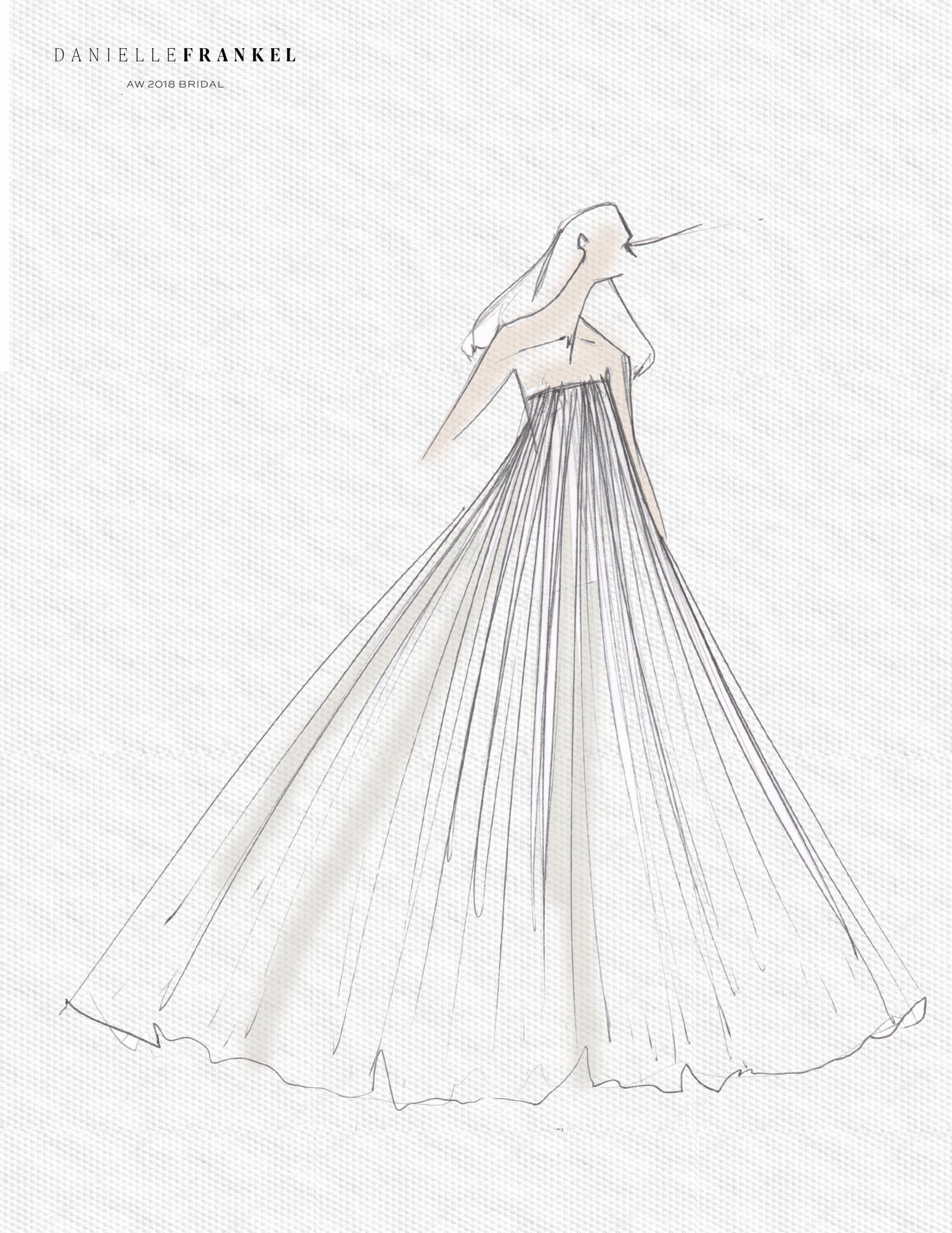 danielle frankel wedding dress sketch