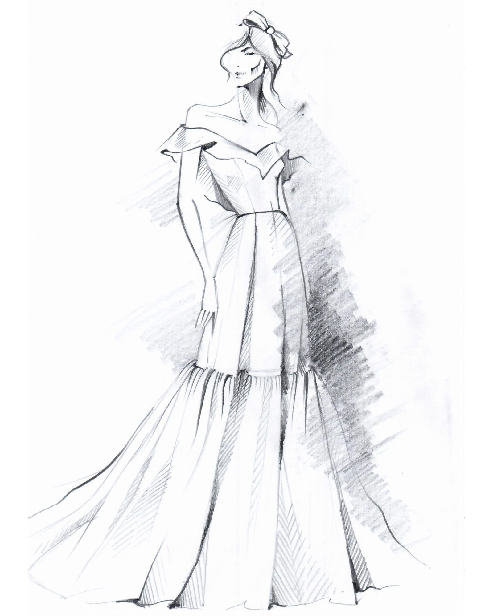lihi hod wedding dress sketch