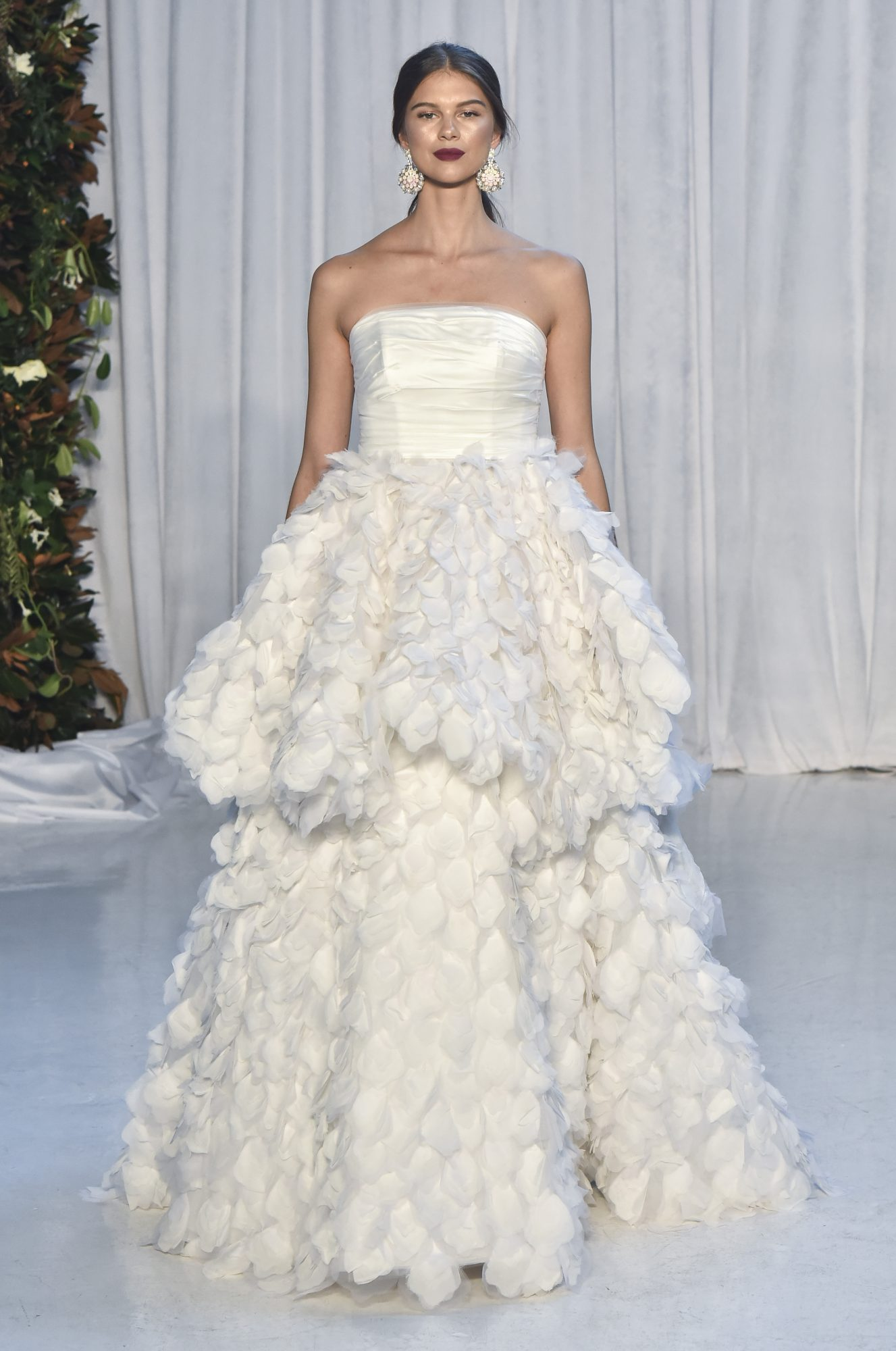 anne barge embellished strapless ball gown wedding dress fall 2018