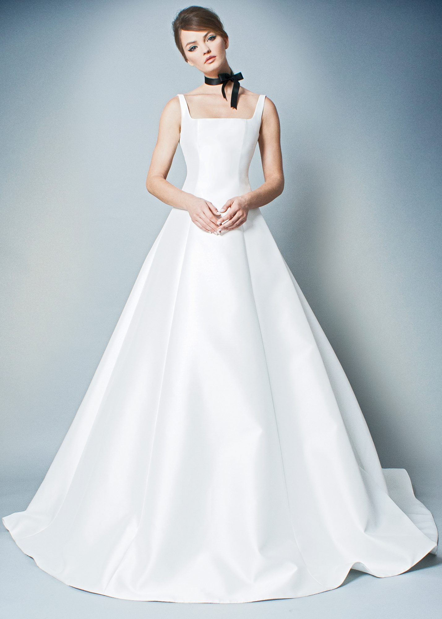 romona fall 2018 square neck ball gown