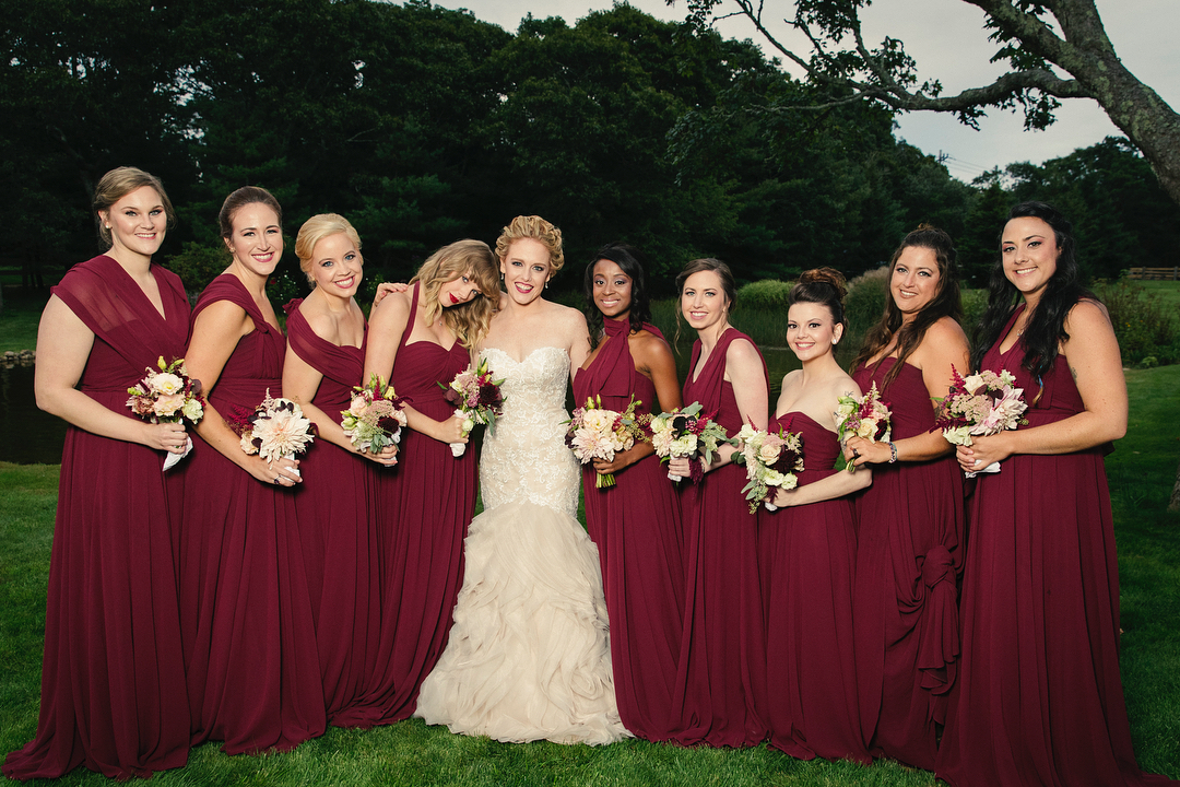 Taylor Swift as a bridesmaid
