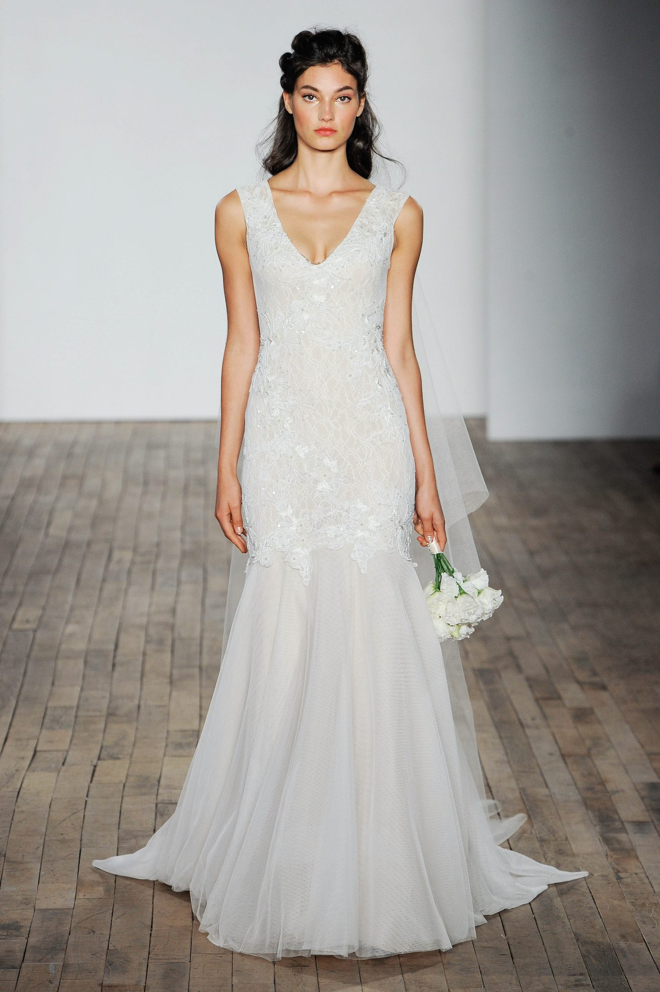 Allison Webb V-Neck Wedding Dress Fall 2018
