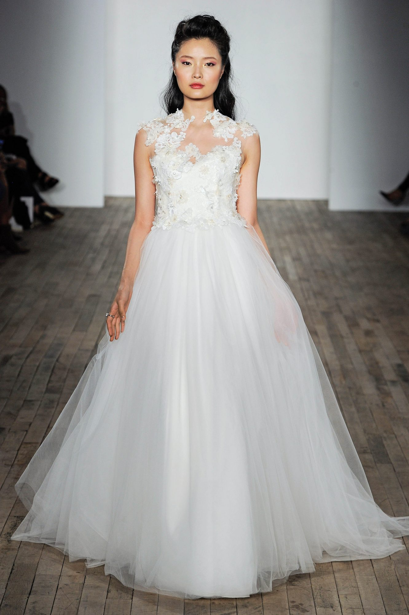 Allison Webb Floral Strap Wedding Dress Fall 2018