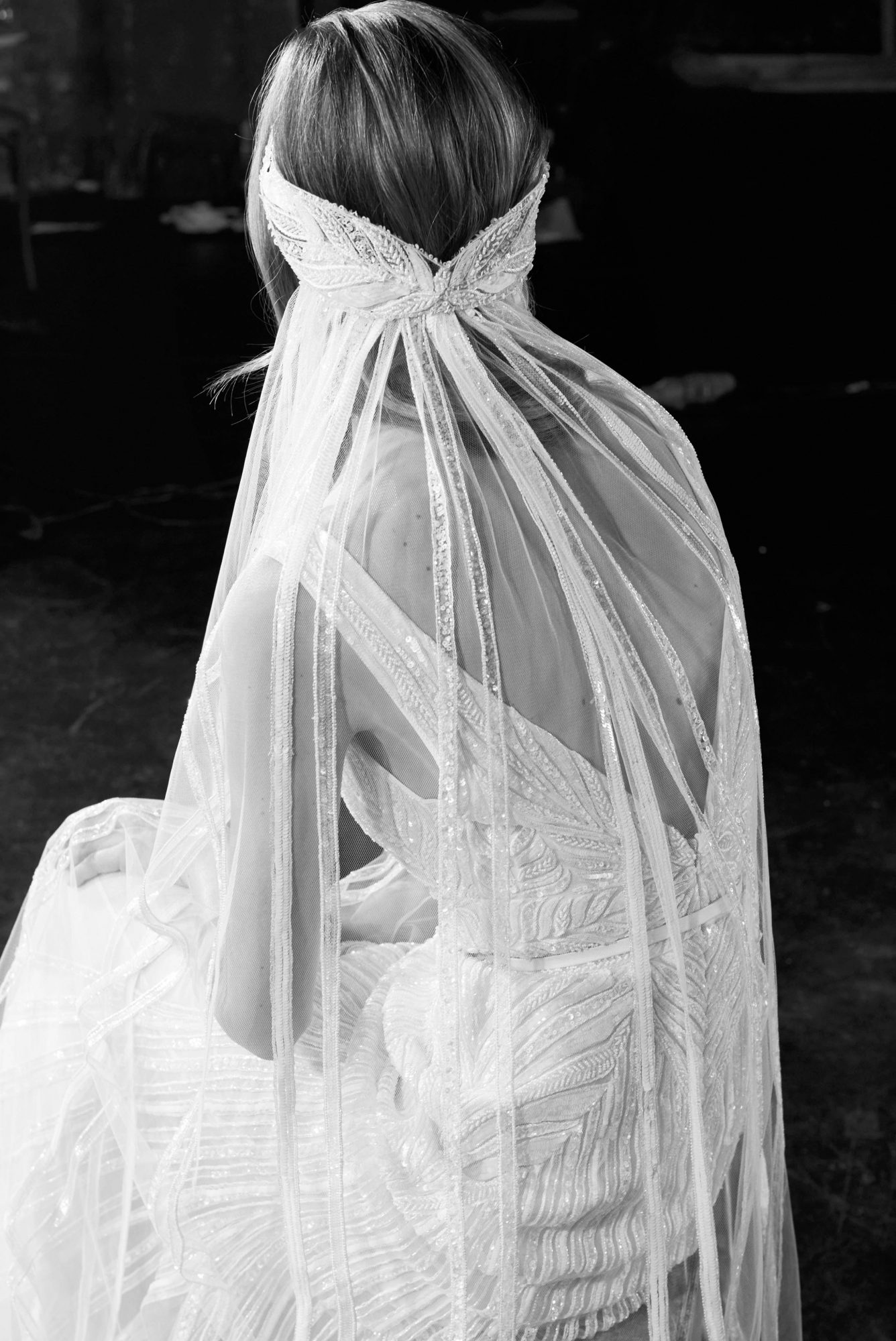 elie saab beaded with sequins wedding dress with straps fall 2018