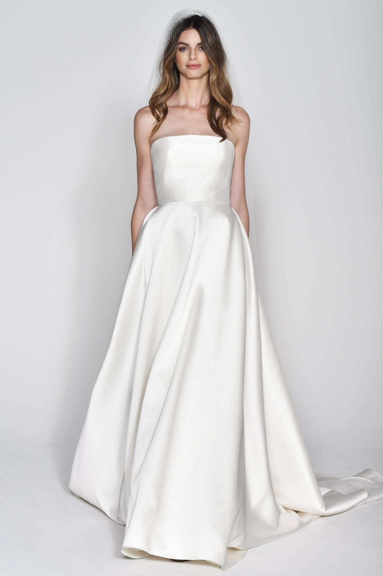 Wtoo by Watters Off-the-Shoulder Ball Gown Wedding Dress Fall 2018