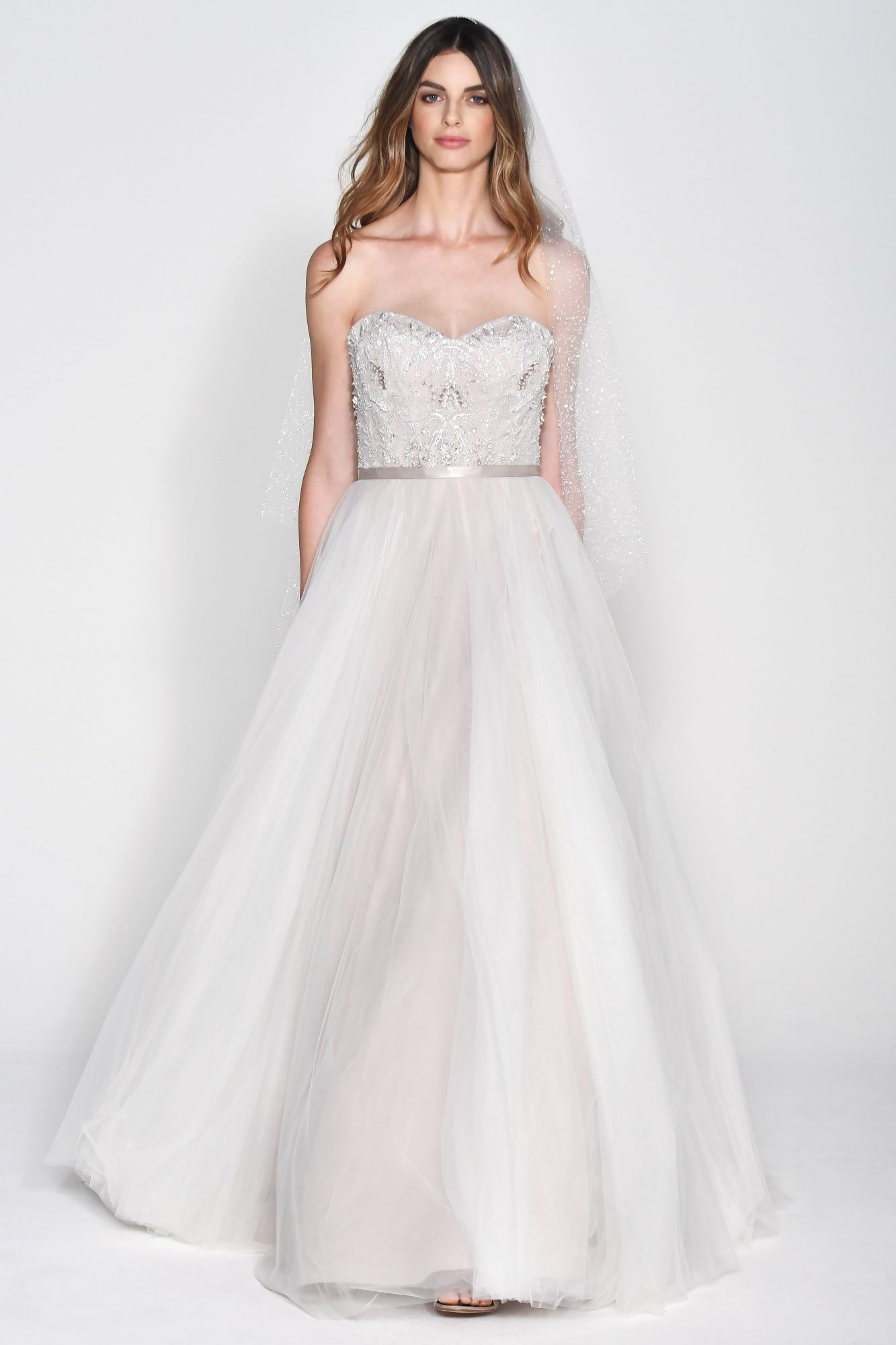 Wtoo by Watters Off-the-Shoulder Sweetheart Ball Gown Wedding Dress Fall 2018