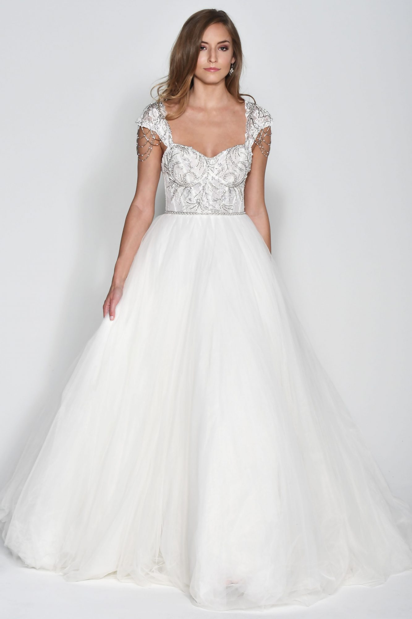 Wtoo by Watters Cap Sleeve Ball Gown Wedding Dress Fall 2018
