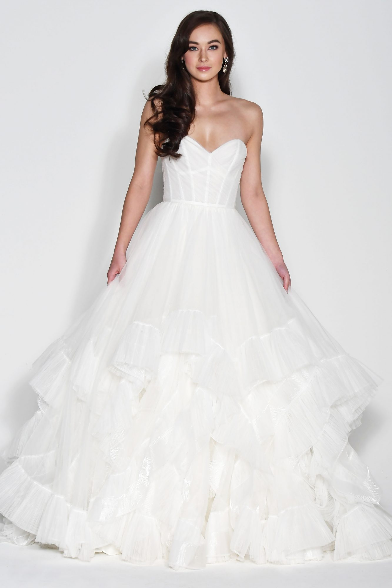 Wtoo by Watters Off-the-Shoulder Sweetheart with Layered Skirt Wedding Dress Fall 2018