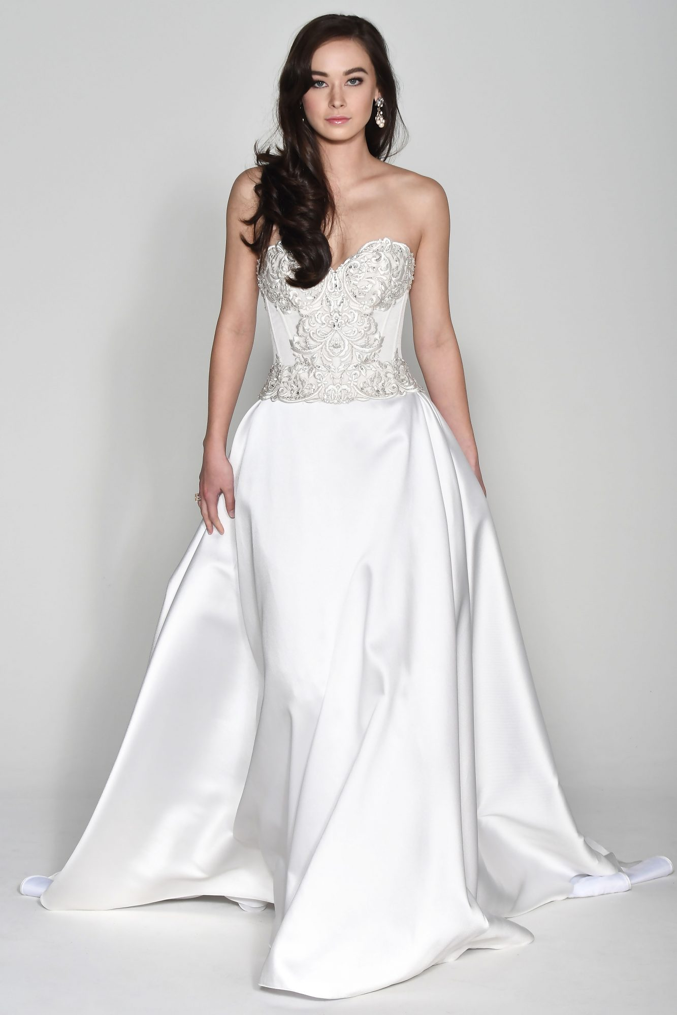 Wtoo by Watters Embellished Off-the-Shoulder Sweetheart Wedding Dress Fall 2018