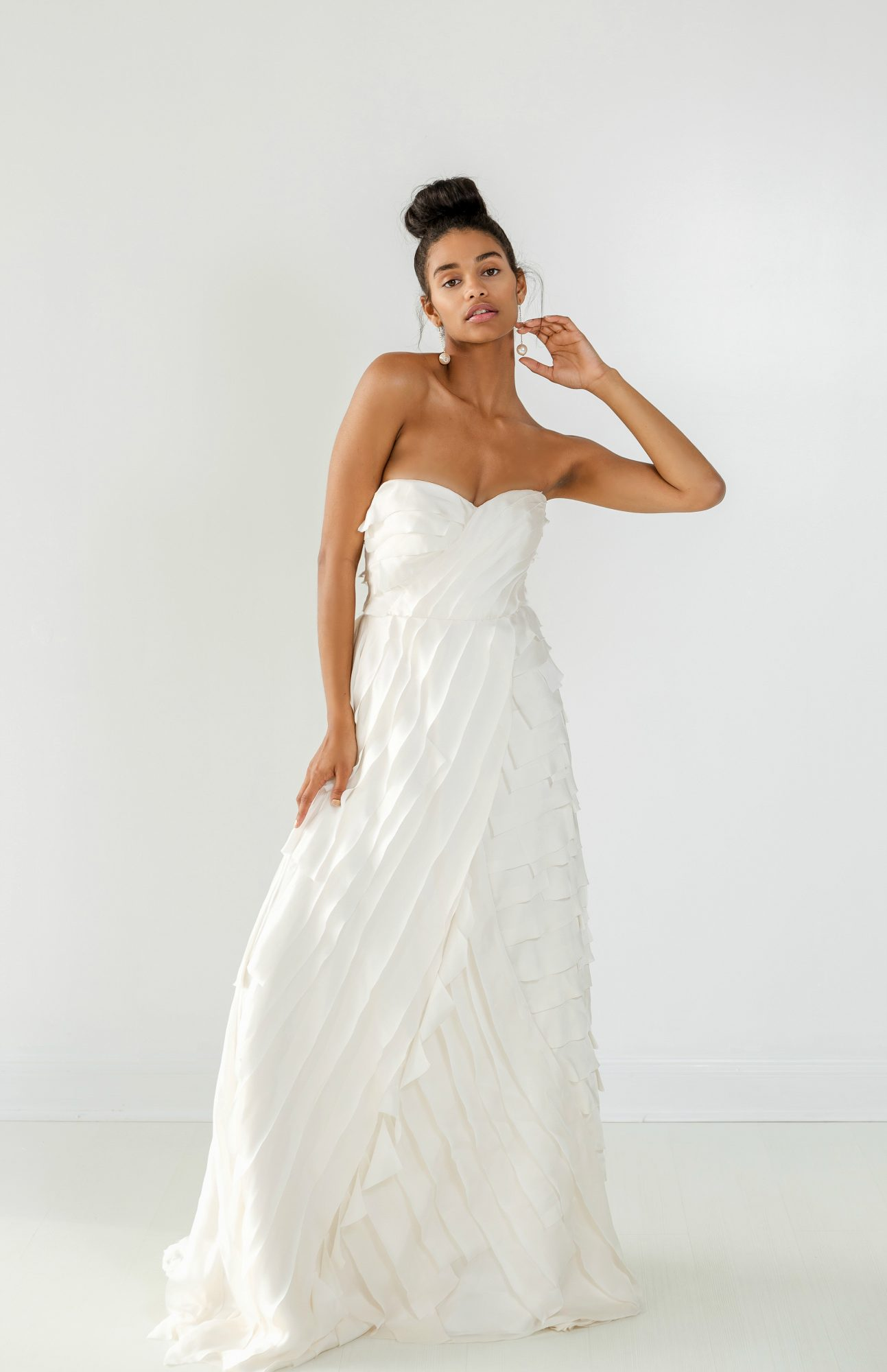 ivy aster dress fall 2018 sweetheart a-line ruffles