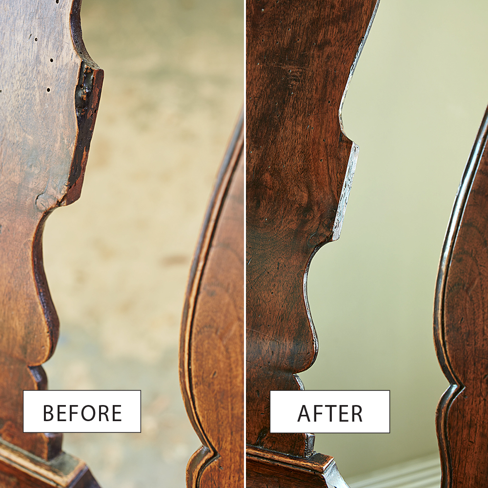 chair refurbish before after