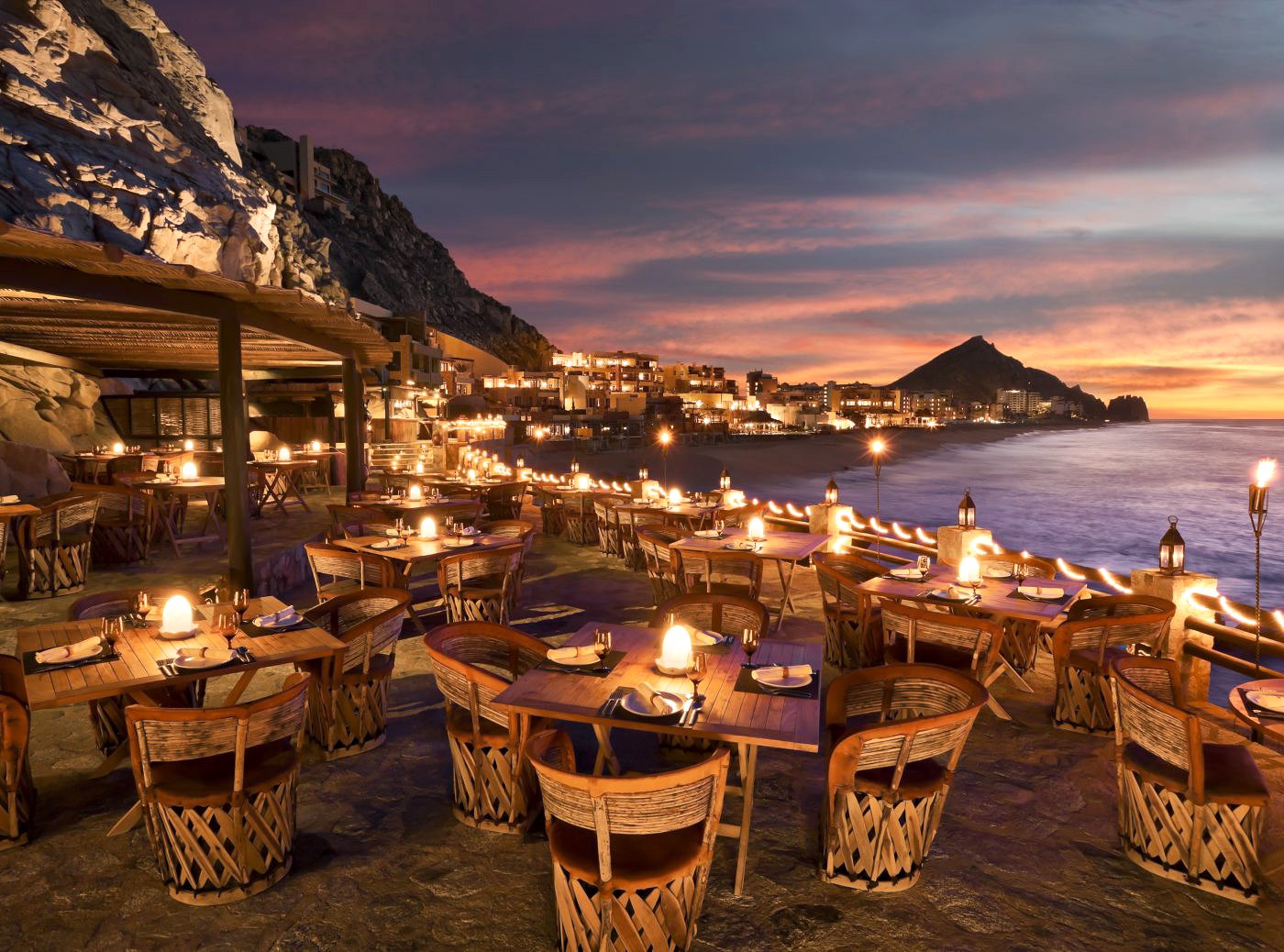 sunset outdoor seating