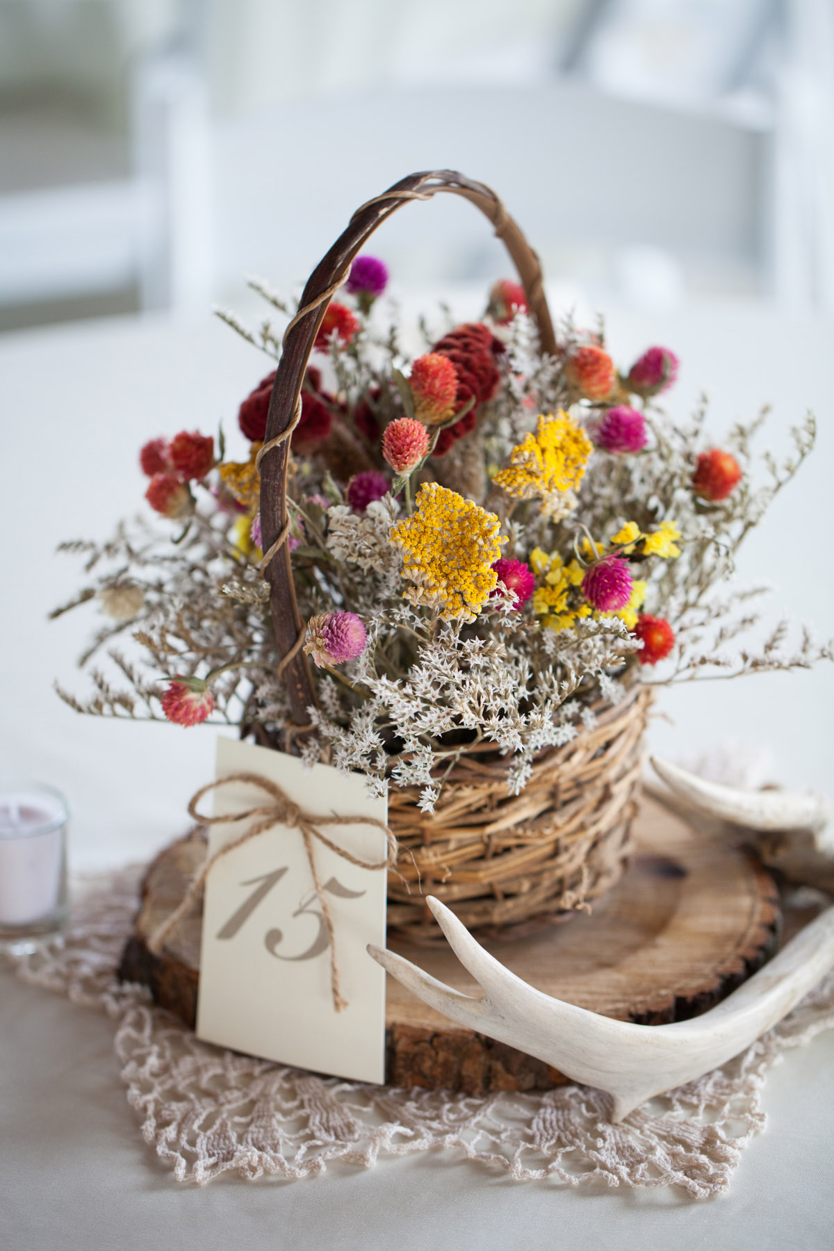 Dried Wildflower Basket