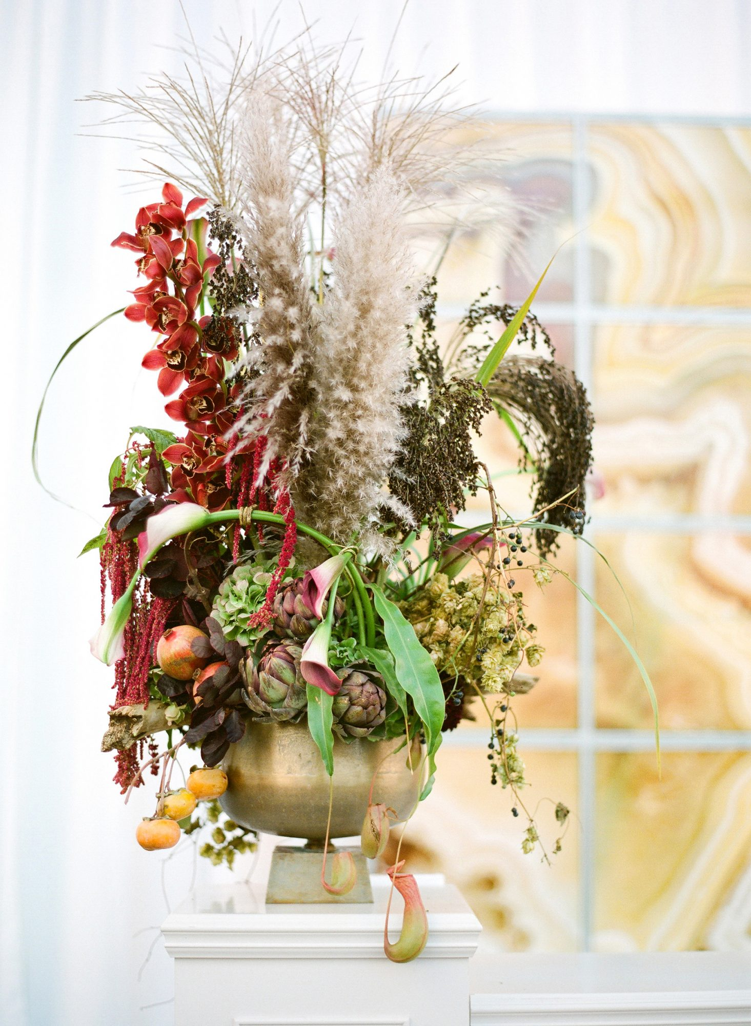 Dried Flower Tall Centerpiece