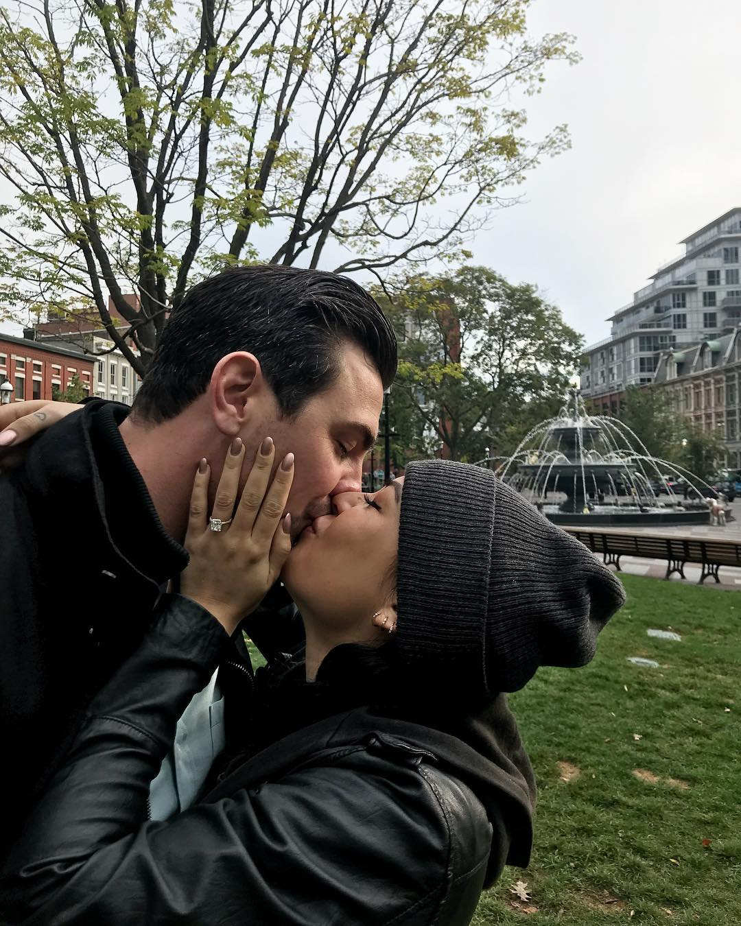 Janel Parrish and Chris Long