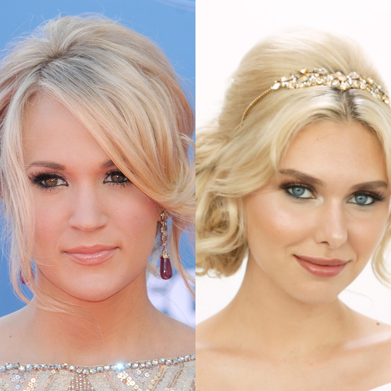 traditional bridal beauty carrie underwood