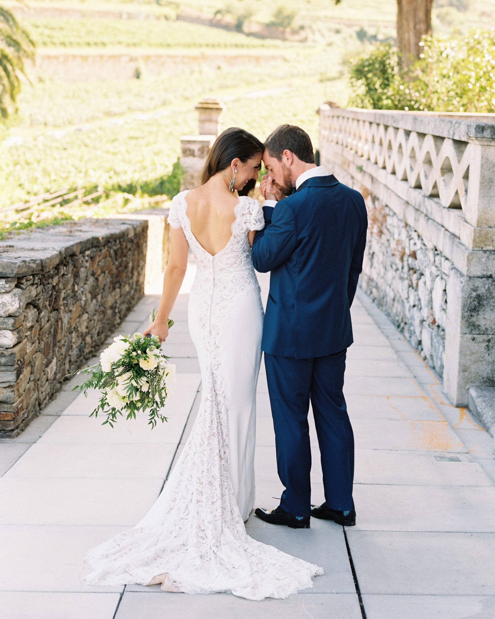 jeannette taylor wedding portugal couple kiss hand