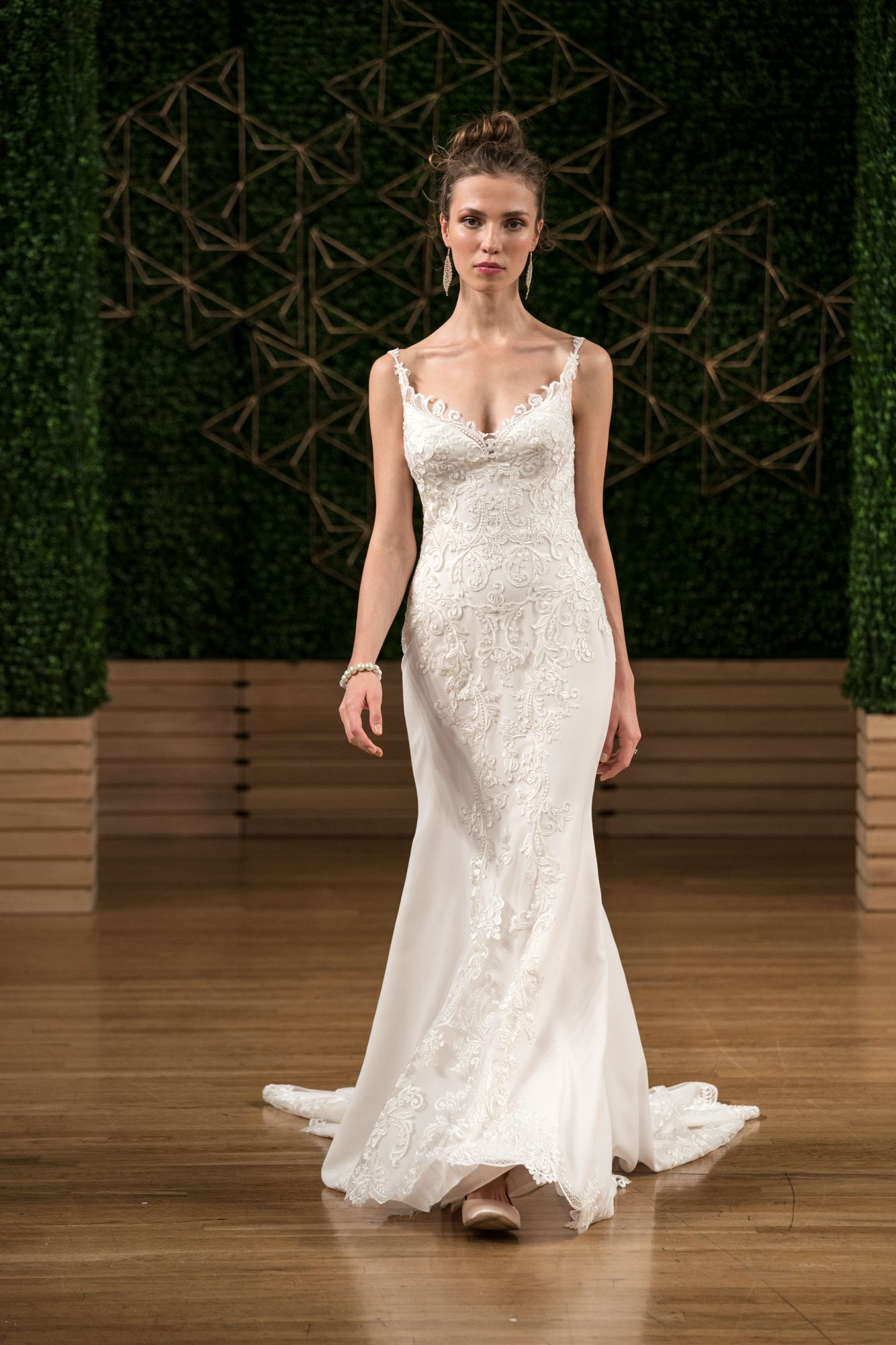 maggie sottero wedding dress fall 2018 spaghetti strap trumpet embellished