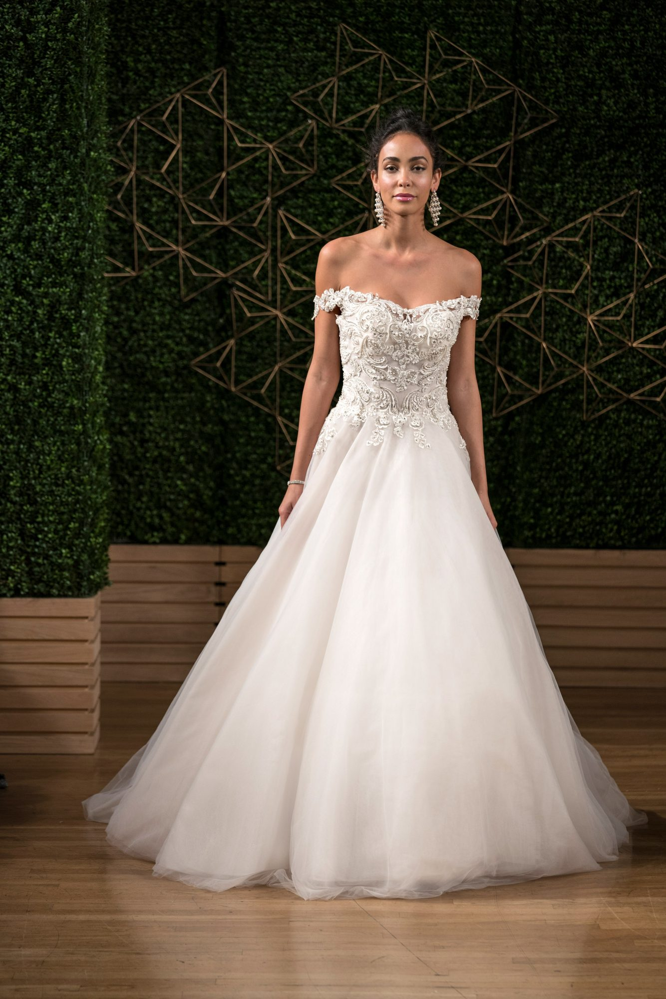 sottero midgley wedding dress fall 2018 ball gown off the shoulder tulle