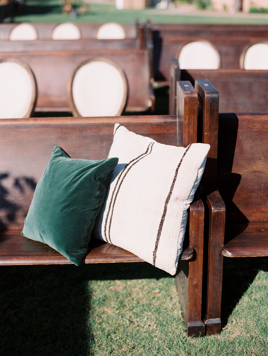 ceremony seating with pillows