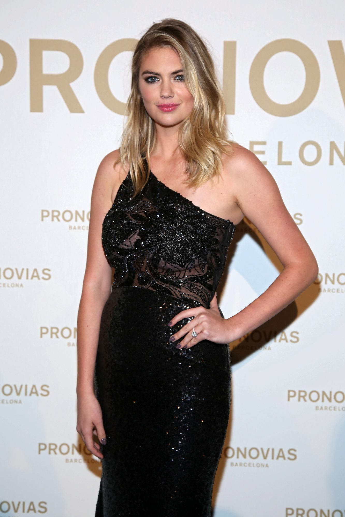 Kate Upton at Pronovias Spring 2018 Show Talks Wedding Planning