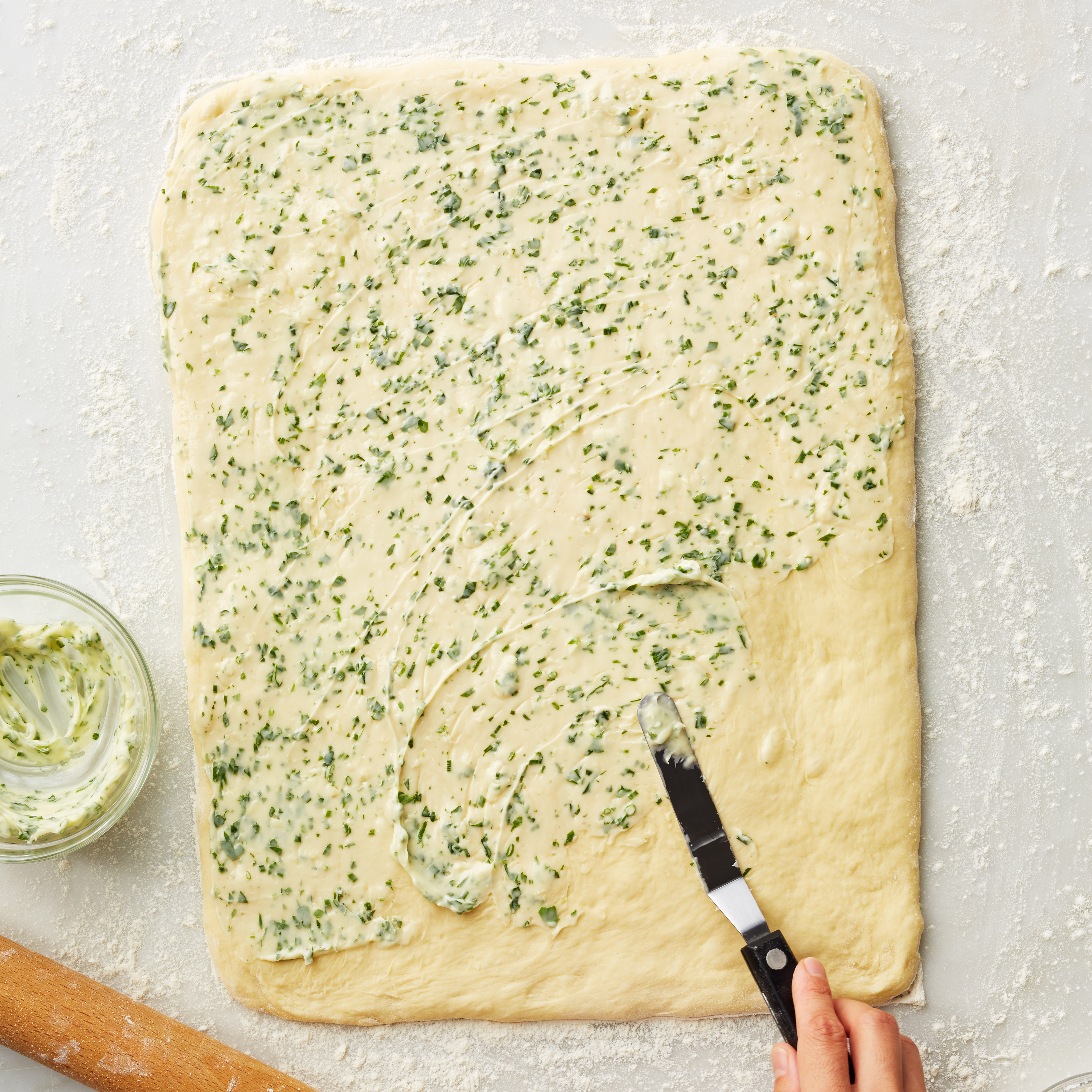 herb bread how to spread