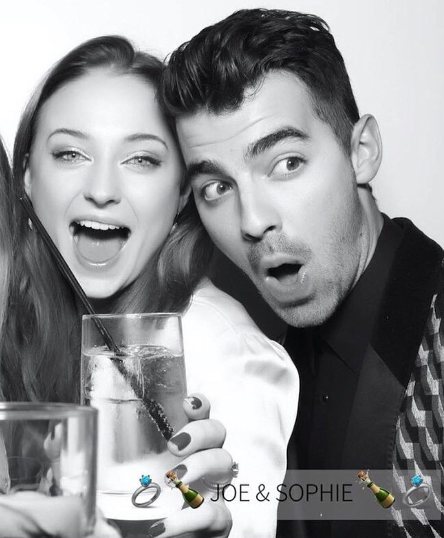 Sophie Turner and Joe Jonas at Engagement Party