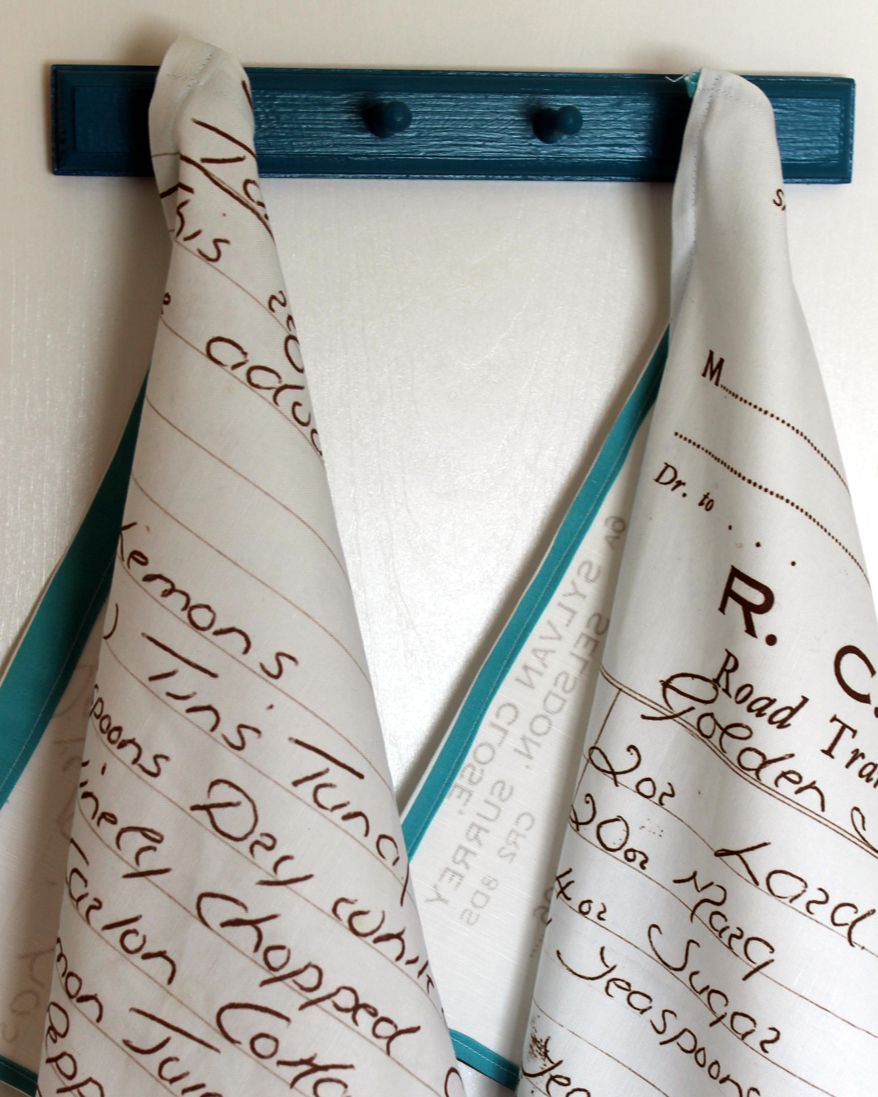 Recipe-Printed Heirloom Tea Towels