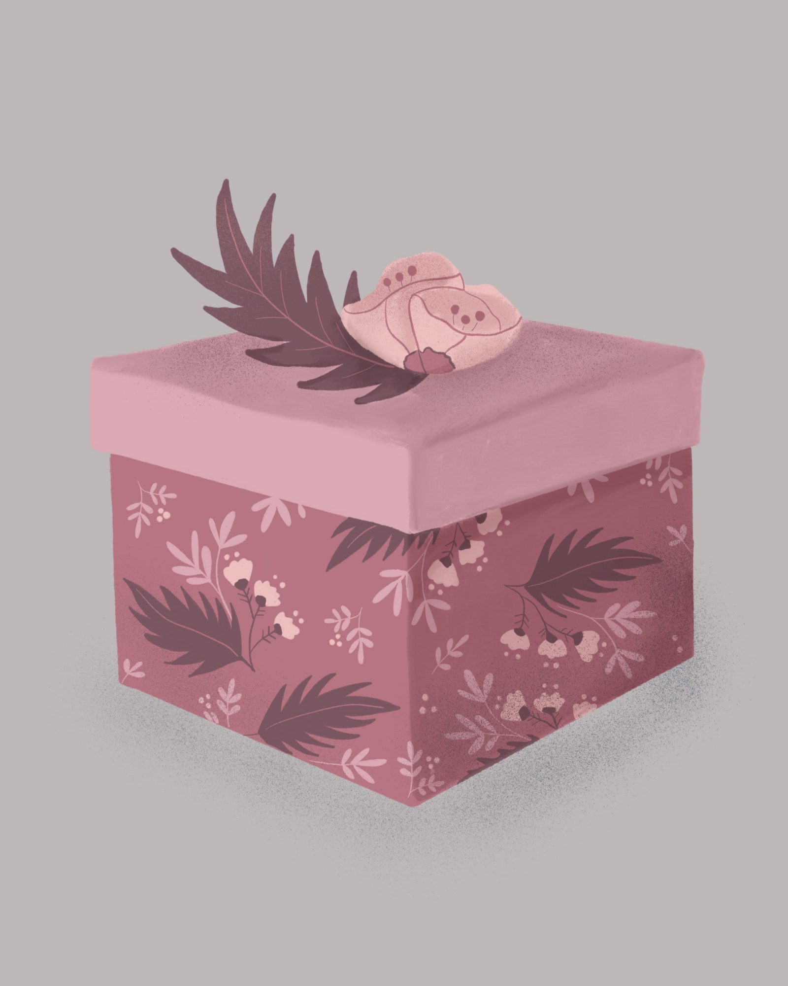 Maid of Honor Gift Guide, Illustrated Gift Box