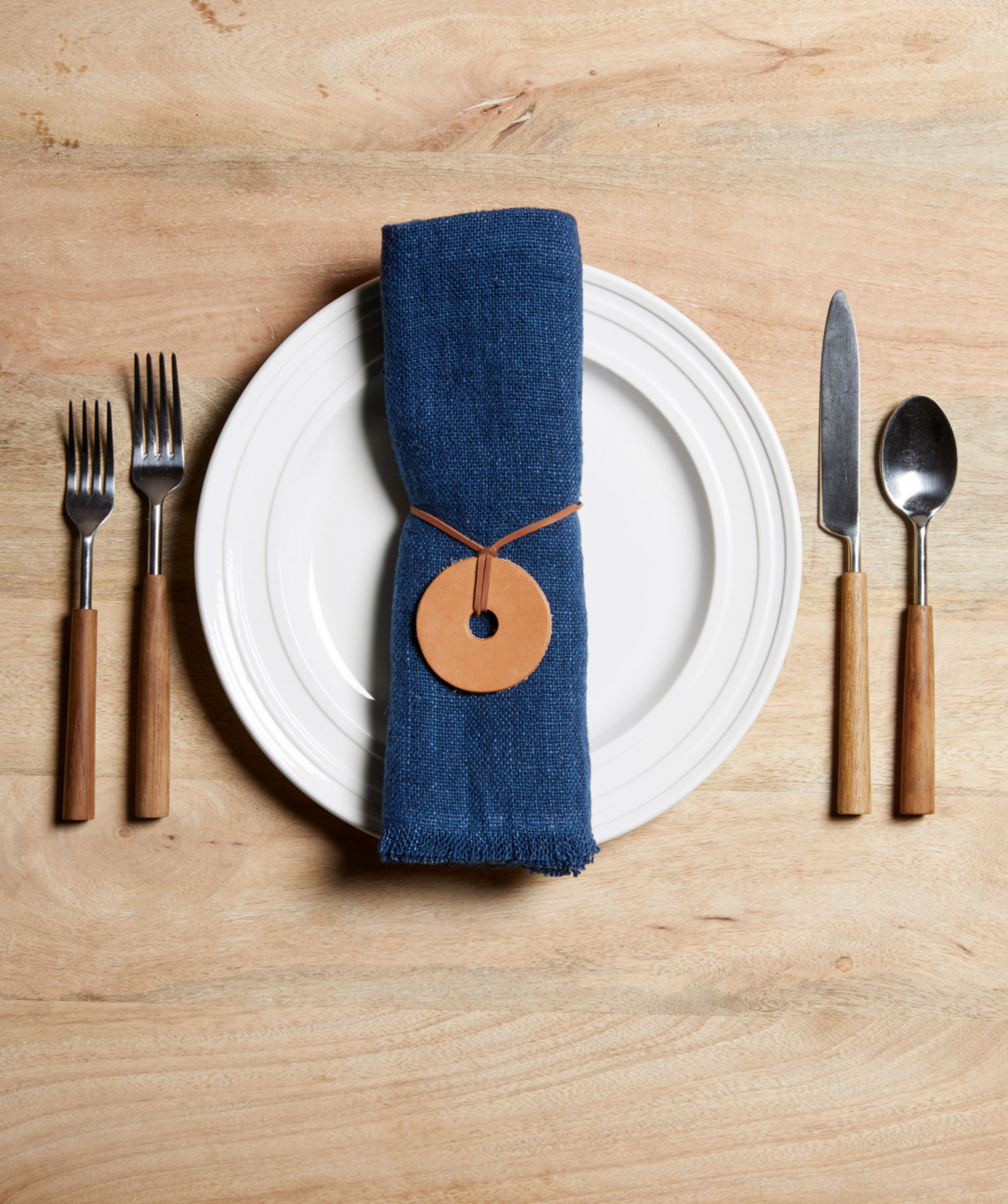 Leather Washer Thanksgiving Place Setting