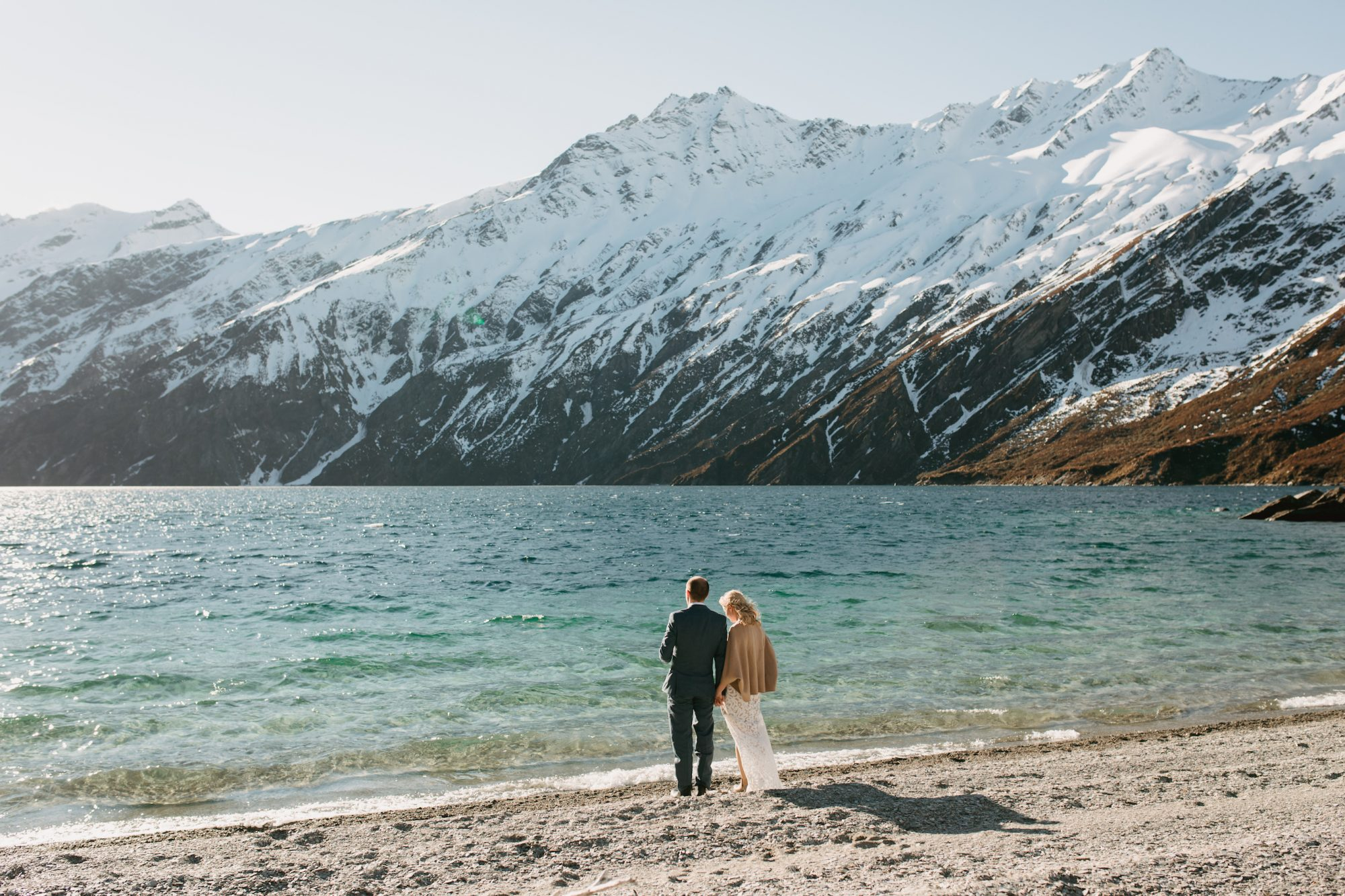 couple by water