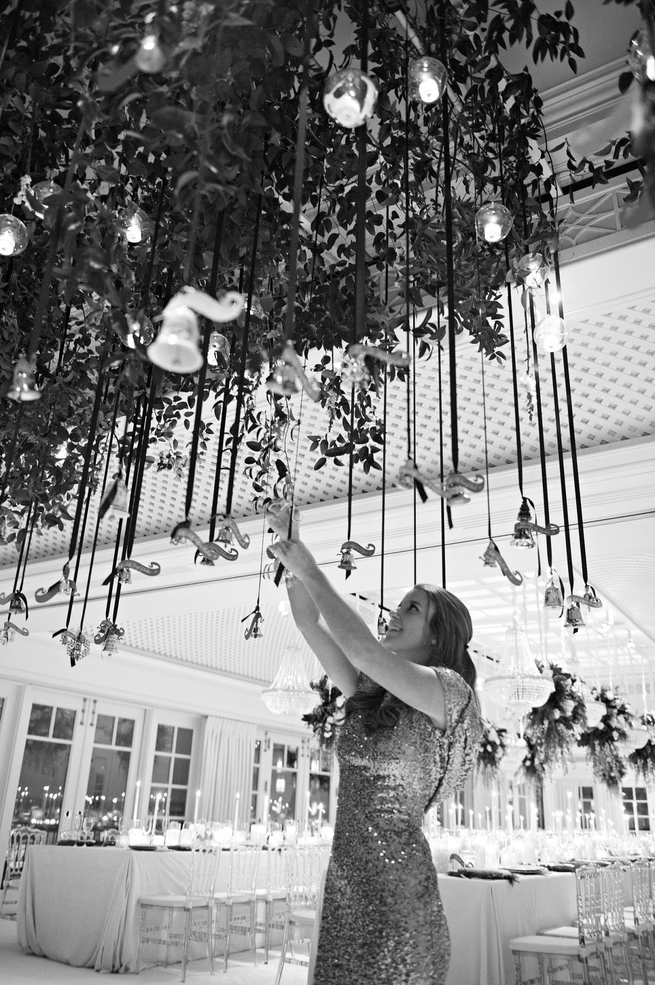 celina rob wedding virginia bells hanging