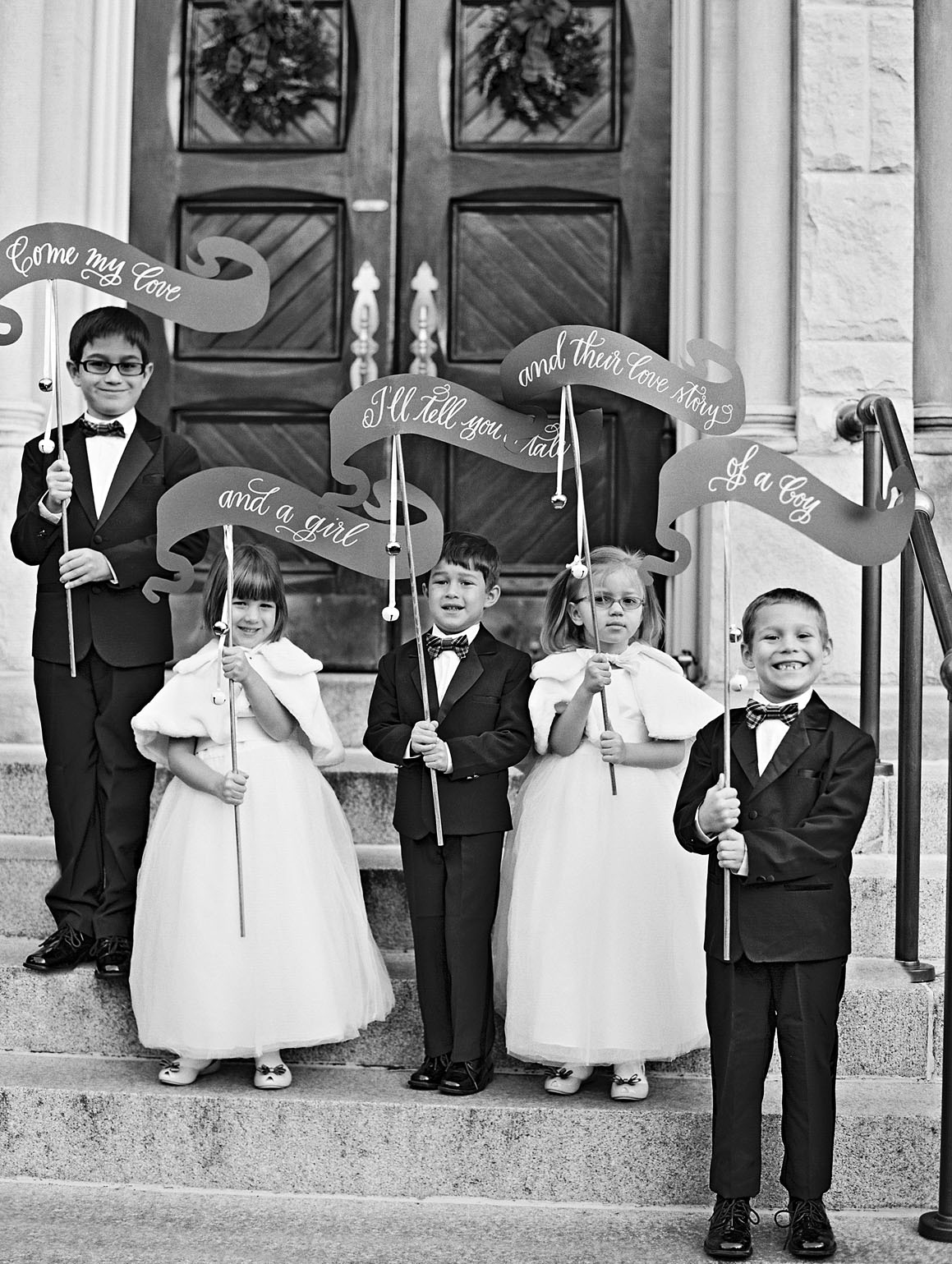 celina rob wedding virginia kids banners