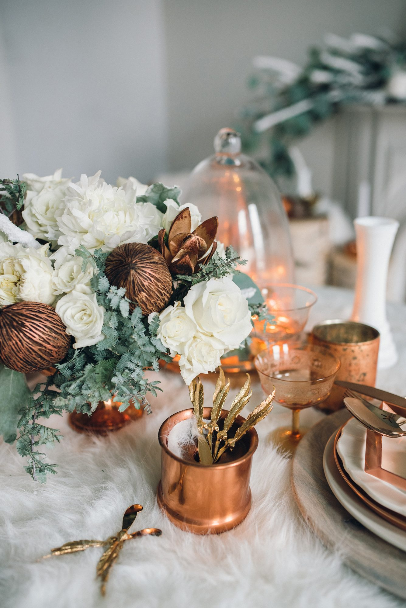 Green, Copper, and White Color Inspiration