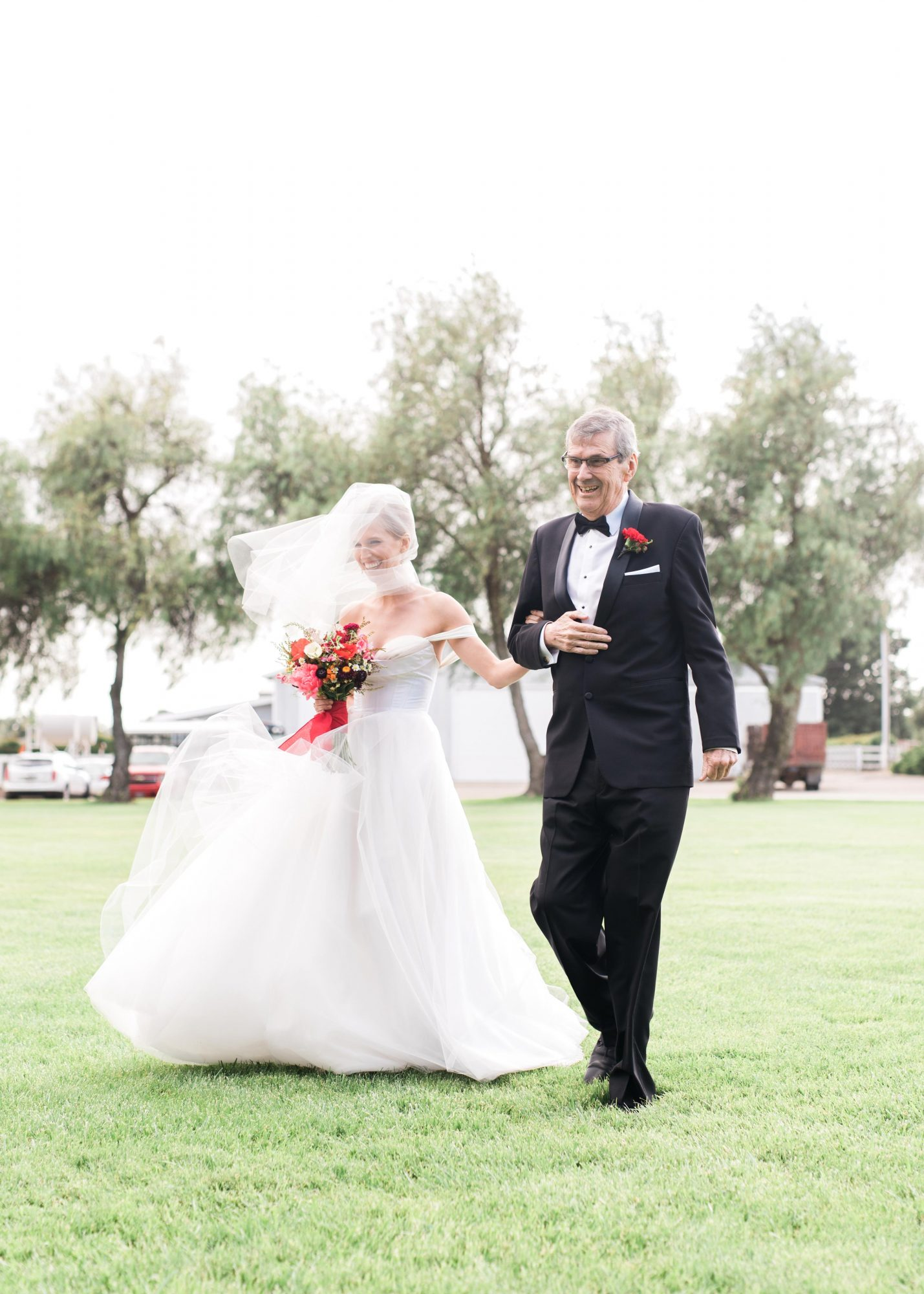 wedding processional bride and father