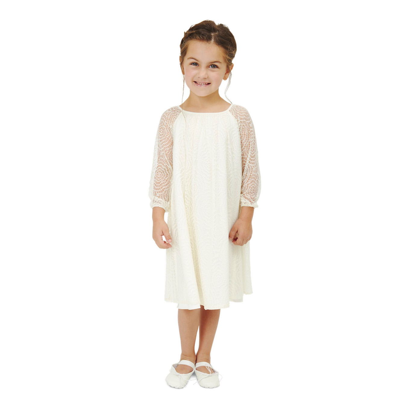 long sleeve flower girl dresses joanna august lace