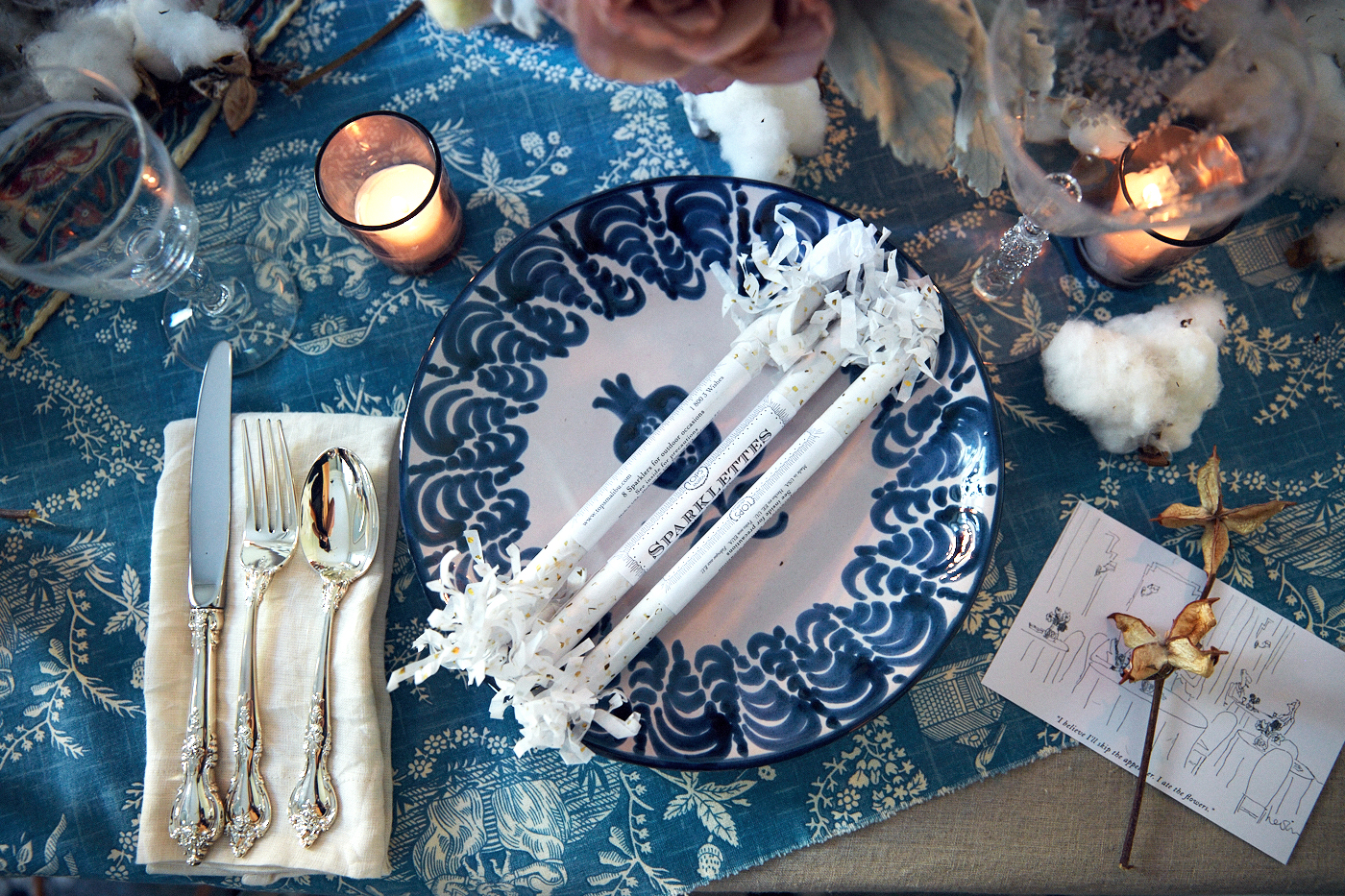 Rebecca Taylor's holiday tablescape