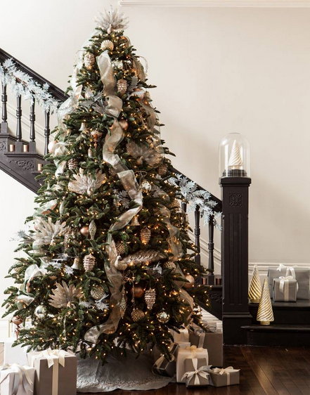 How To Decorate A Christmas Tree With Ribbon.How To Trim A Christmas Tree Martha Stewart
