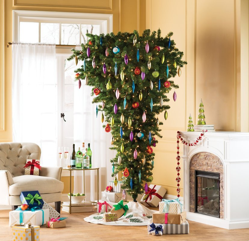 Upside Down Christmas Tree Decorating Ideas.A Guide To Upside Down Christmas Trees Martha Stewart